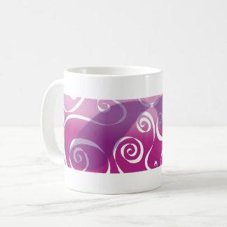 Bold Funky Scrolls - reverse pink-blend Coffee Mug
