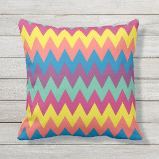 Bold Funky Summer Chevrons Outdoor Pillow