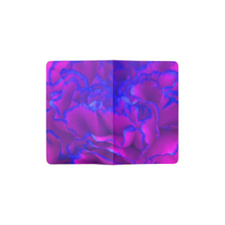 Bold Fuschia Pink and Blue Carnation Flower Pocket Moleskine Notebook