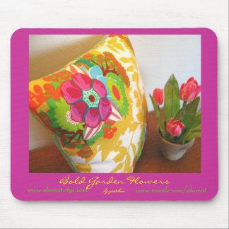 Bold Garden Flowers Mousepad