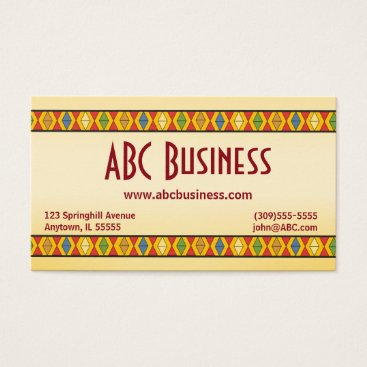 Aztec Themed Bold Geometric Aztec Inspired Business Card