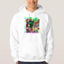 Bold Geometric Cube Pattern Hoodie