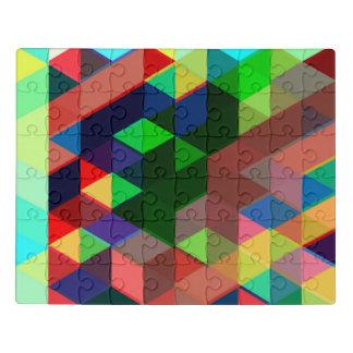 Bold Geometric Cube Pattern Jigsaw Puzzle