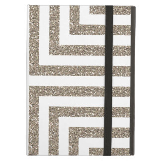 Bold Geometric Lines in Solid Gold Glitter iPad Air Case