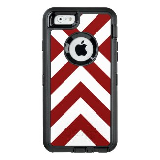 Bold Geometric Red and White V-Shapes OtterBox iPhone 6/6s Case