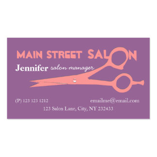 Bold Girly  Colors  Beauty Salon Spa Business Card