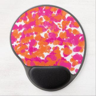 Bold Girly Hot Pink Fuchsia Orange Paint Splashes Gel Mouse Pad