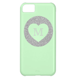 Bold Glitter Gold Dot With Heart Custom Color iPhone 5C Cover