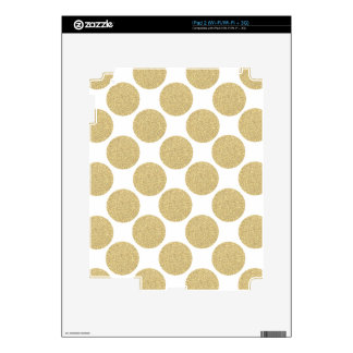 Bold Glitter Gold Polka Dots Decal For The iPad 2