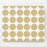 Bold Glitter Gold Polka Dots Mousepad