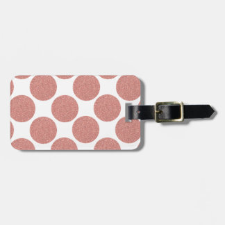 Bold Glitter Rose Gold Dots Bag Tag