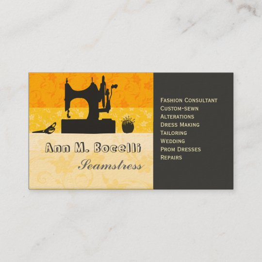 Bold gold artist crafter sewing machine customized business card bold gold artist crafter sewing machine customized business card reheart Image collections