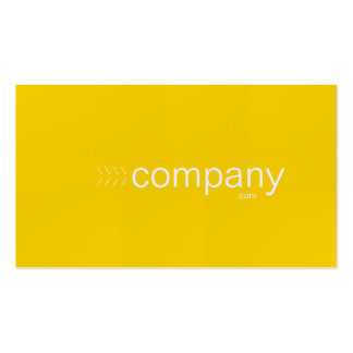 Bold gold color business card with website
