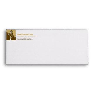 Bold Gold Commercial Real Estate Envelope