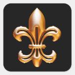 Bold Gold Fleur de Lis Stickers