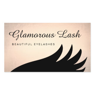 Bold Gold Lash Eyelash Extensions Business Card