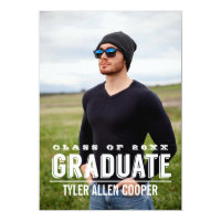 BOLD GRAD Photo Graduation Party Announcement