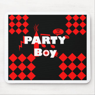 Bold Graphic Design for Boys Who Party Mouse Pad