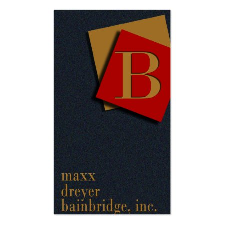 Bold Graphic Monogram Art Director Business Cards