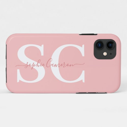 Bold graphic typography initial Phone Case