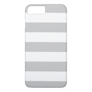 Bold Gray and White Stripes Pattern iPhone 7 Plus Case