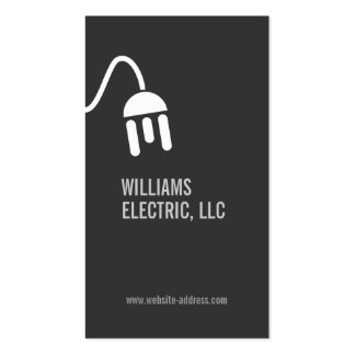BOLD GRAY ELECTRICIAN MODERN BUSINESS CARD