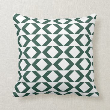 Aztec Themed Bold Green and White modern chevron throw pillow
