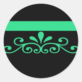 Bold Green Classic Round Sticker