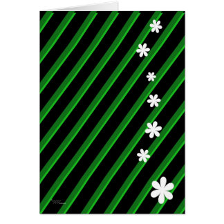Bold Green Flowers Greeting Card