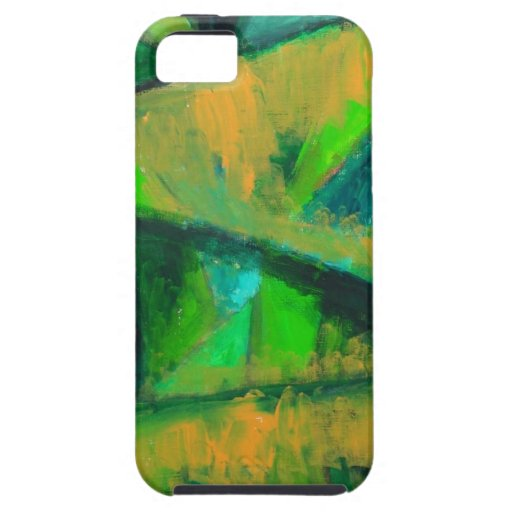 Bold Green Leaves (abstract natural pattern ) iPhone 5 Covers