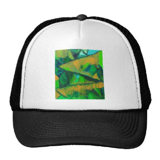 Bold Green Leaves (abstract natural pattern ) Trucker Hats