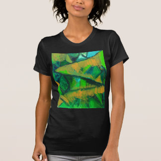 Bold Green Leaves (abstract natural pattern ) T-shirt