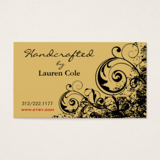 Bold Grunge Curls Handcrafted by custom crafts Business Card