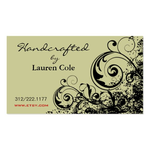 Bold Grunge Curls Handcrafted by custom crafts Double-Sided Standard Business Cards (Pack Of 100)