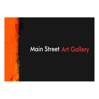 Bold Grunge Paint Splashes Abstract Art Gallery Large Business Card