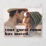 """Bold guest room photo moving announcement (Visit shop for more moving announcements, including state love! Type """"new home"""" in the Searchbox)"""
