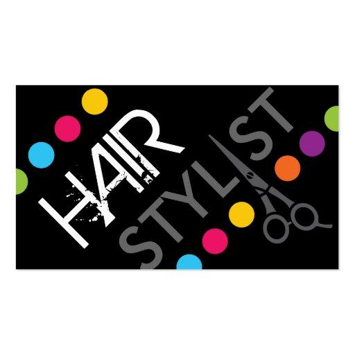 Bold Hair Stylist Business Card