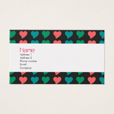 Professional Business Bold Hearts Business Card