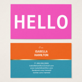 BOLD HELLO COLORS | BUSINESS CARD