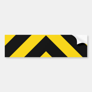 Bold Highway Traffic Bumble Bee Chevrons Bumper Stickers
