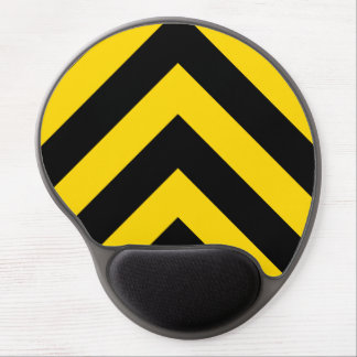 Bold Highway Traffic Bumble Bee Chevrons Gel Mouse Pad