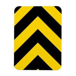 Bold Highway Traffic Bumble Bee Chevrons Magnet