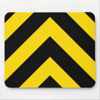Bold Highway Traffic Bumble Bee Chevrons Mouse Pad