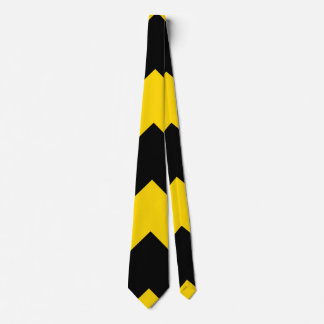 Bold Highway Traffic Bumble Bee Chevrons Neck Tie