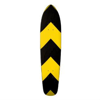 Bold Highway Traffic Bumble Bee Chevrons Skateboard Deck