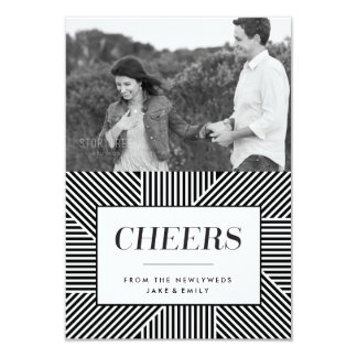 Bold Holiday Engagement, Newlywed card