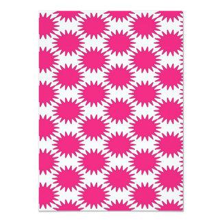 Bold Hot Pink Fuchsia Kapow Bubbles Pattern Card