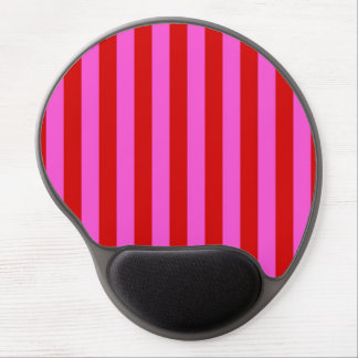 Bold Hot Pink, Red Stripe Pattern Gel Mouse Pad