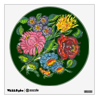 bold hungarian flowers wall sticker