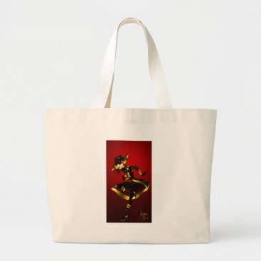 jasmineflynn Bold in Red and Gold Large Tote Bag